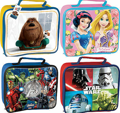 Childs Character School Boys Girls Insulated Wipe Clean Lunch Box Bag Disney  • 8.95£