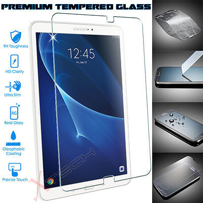 Genuine TEMPERED GLASS Screen Protector For Samsung Galaxy Tab A 10.1  (SM-T585) • 4.95£
