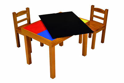 Children's Play Table And Chairs Set - 4-in-1 Activity Table - Wooden • 92.99£