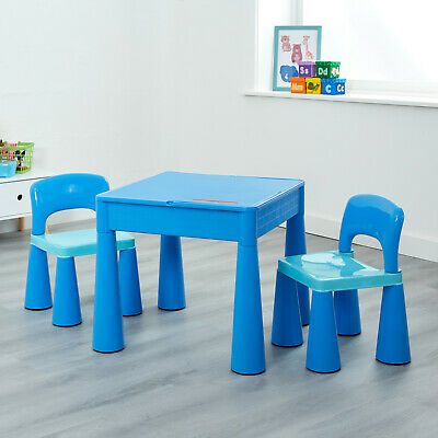 Kids Table And Chairs 5-in-1 Activity Play Table And Chairs - Blue  • 55.99£