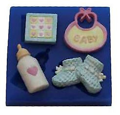 Baby Set 7 - B201 FIRST IMPRESSIONS MOLDS - Silicone Moulds • 8.29£