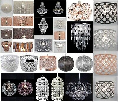 Chandelier Style Ceiling Light Shade Droplet Pendant Acrylic Crystal Bead Luxury • 24.95£