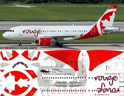V1 Decals Airbus A319 Air Canada Rouge For 1/144 Revell Model Airplane Kit • 10.71£