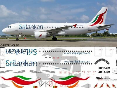 V1 Decals Airbus A320 Sri Lankan Airlines For 1/144 Revell Model Airplane Kit  • 10.74£