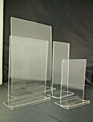 Table Counter Plastic Acrylic Perspex® Holder Display Menu Stand A3 A4 A5 A6 DL  • 6.43£