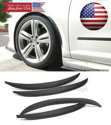 $ CDN25.19 • Buy 2 Pairs 13  Carbon Diffuser Fender Flare Lip Trim For  Ford Wheel Wall Panel