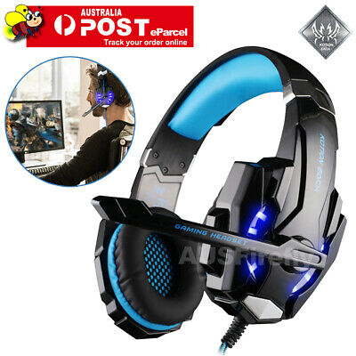 AU31.95 • Buy EACH 3.5mm Gaming Headset MIC LED Headphones G2000 For PC Laptop PS4 Xbox One