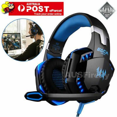 AU37.95 • Buy EACH 3.5mm Gaming Headset MIC LED Headphones G2000 For PC Laptop PS4 Xbox One