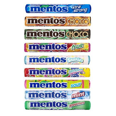 £6.95 • Buy Mentos Rolls Chewy Dragees Sweets Candy Assorted Flavours (2, 5, 10, 30 Or 40)