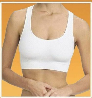 £4.99 • Buy  WOMENS SEAMLESS COMFORT BRA Comfy Shapewear Sports Stretch Crop Top Vest Suppot