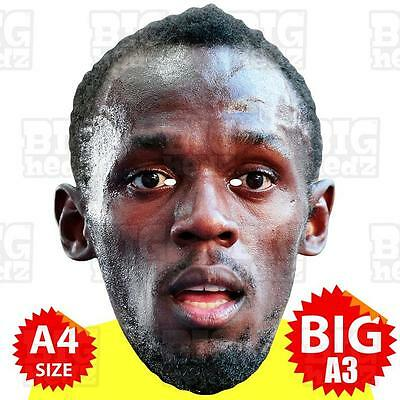 USAIN BOLT - BIG A3 Face Mask Or LIFE-SIZE - OLYMPIC ATHLETICS GAMES RIO 2016 GB • 11.95£