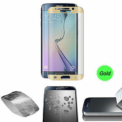 $ CDN6.24 • Buy Gold Full Cover Tempered Glass Screen Protector For Samsung Galaxy S7 Edge NEW
