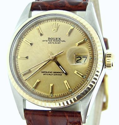 $ CDN5166.46 • Buy Rolex Datejust Mens 2Tone 14K Yellow Gold & Stainless Steel Watch Champagne Dial