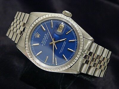 $ CDN6038.82 • Buy Rolex Datejust Mens Stainless Steel W/ Submariner Blue Dial & Jubilee Band 1603