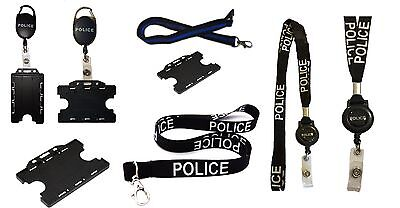 Police High Quality Lanyards / Badge Reels Ideal For Mobile Id Keys Badge / Card • 2.99£