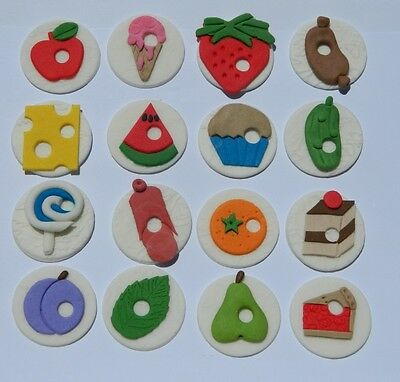 16 Edible HUNGRY CATERPILLAR INSPIRED Cake Topper CUPCAKE DECORATIONS Book Theme • 14£