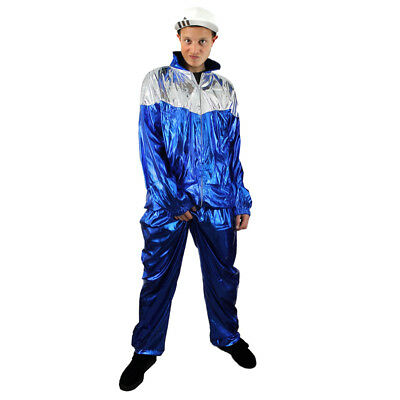 1980's Scouser Costume Tracksuit Shell Suit Chav Mens 80's Scouse Fancy Dress • 18.99£