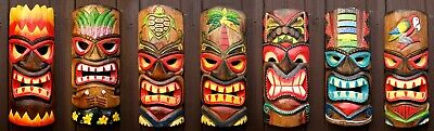 £12.95 • Buy Tiki Bar Mask 30cm Wooden Decoration Handcarved Painted Wall Decor Accessories