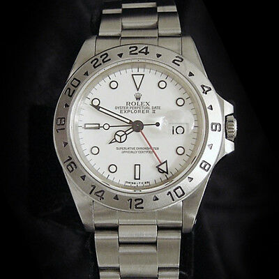 $ CDN9065.36 • Buy Rolex Stainless Steel Oyster Perpetual Explorer II Date Watch 40mm White 16570