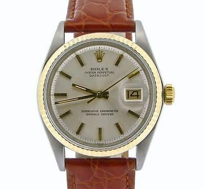 $ CDN5166.46 • Buy Rolex Datejust Mens 2Tone 14K Yellow Gold & Stainless Steel Watch W/ Silver Dial