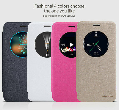 AU10.29 • Buy For OPPO F1S F1 A59 Nillkin Sparkle View Smart Slim PU Leather Flip Case Cover