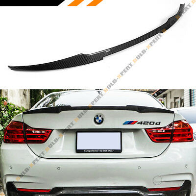 $159.99 • Buy FITS 2014-2020 BMW 428i 435i 440i CARBON FIBER TRUNK SPOILER WING- M4 LOOK STYLE