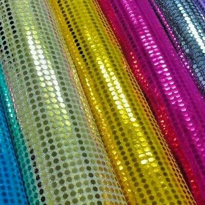 6mm Sequin Fabric Shiny Sparkly Material Fancy Dress Costume Per Metre M63 Mtex • 5.40£