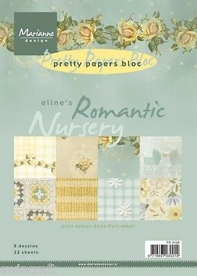£3.45 • Buy Marianne Pretty Papers Bloc Stack Eline's Romantic Nursery Pb7038 Reduced