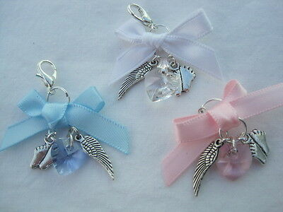 £4.75 • Buy Baby Loss/miscarriage/stillborn Memorial Remembrance  Angelwings Babyfeet Charm