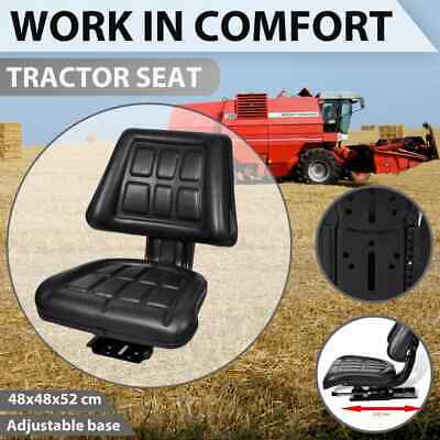 AU93.99 • Buy VidaXL Tractor Seat With Backrest Black Car Suspension Replacement Chair