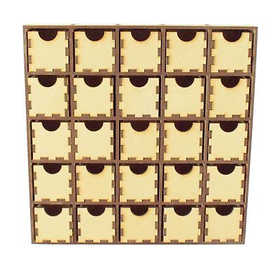 £19.99 • Buy Wooden MDF Plain Christmas Craft Advent Calendar Drawers Countdown - 25 Drawers