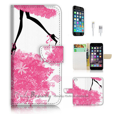 AU12.99 • Buy ( For IPhone 6 / 6S ) Wallet Case Cover P3025 Girl On Flower