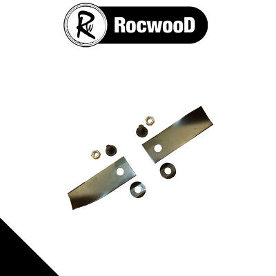 Blade & Bolt Set Of 2 Fits 18  20  Rover Lawnmower Rear Catcher Models • 7.43£
