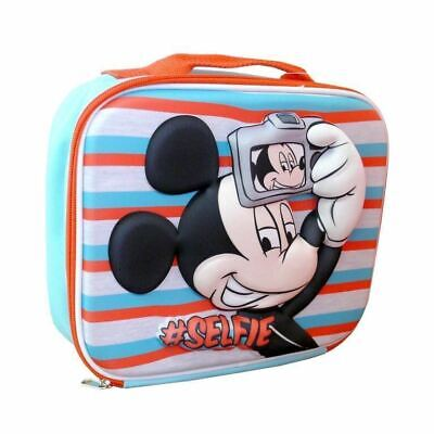 Lunch Insulated Bag New Official Disney Mickey Mouse Boys Selfie 3D Eva School • 4.99£