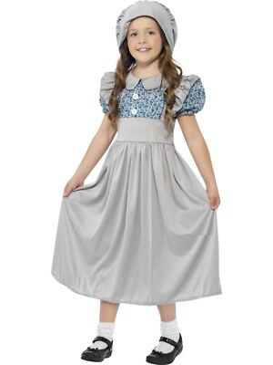 £10.49 • Buy Victorian School Girl Costume Wartime World Book Week Day Fancy Dress Outfit