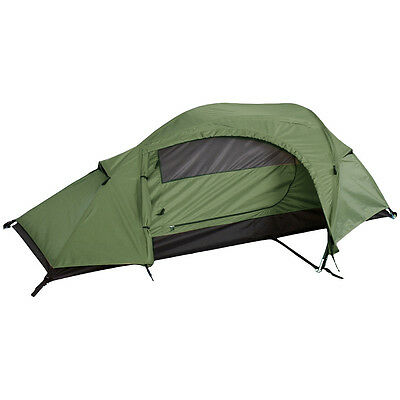 Mil-Tec Recom 1 Man One Person Waterproof Camping Military Army Tunnel Tent OG • 69.90£