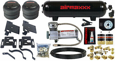 $539 • Buy Tow Assist Air Bag Over Load Kit White Gauge Tank 2001-10 Chevy 2500 3500 Truck