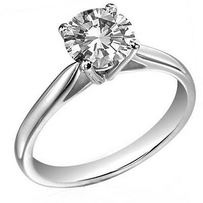 Platinum 0.50ct Solitaire Diamond Ring Certified Diamond  Engagement  UK Made • 1,250£