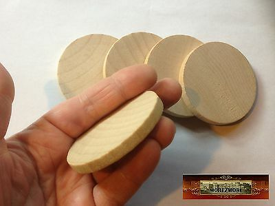 $3.61 • Buy M00788 MOREZMORE 5 Unfinished 2 3/8 Round Base Wooden Wood Disk Circle Blank