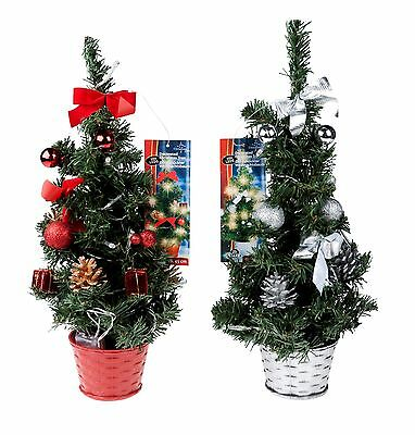 Pretty 45cm Mini Desk Top Table Top Decorated Christmas Tree With 20 LED Lights • 7.99£
