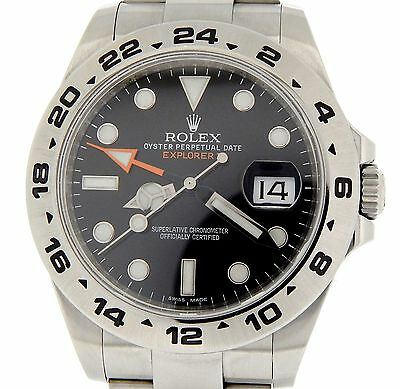 $ CDN11300.66 • Buy Rolex Explorer II Mens Stainless Steel Watch 42mm Orange Hand Black Dial 216570