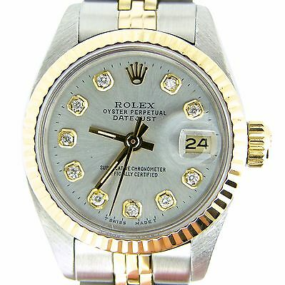 $ CDN3816.42 • Buy Rolex Datejust Lady Two-Tone Gold And Stainless Steel Watch Silver Diamond 6917