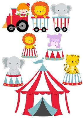 Circus Animals Train Nursery Wall Stickers • 9.96£