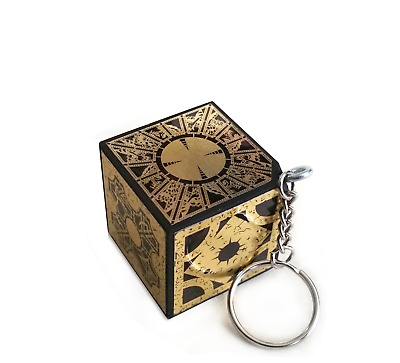 KEY CHAIN HELLRAISER PUZZLE BOX CUBE Foil Face KEYCHAIN PINHEAD NEW Handcrafted • 17.89£