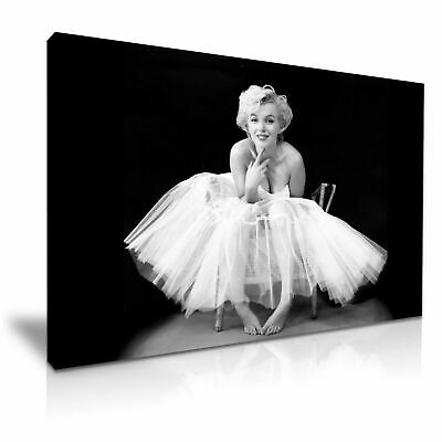 Marilyn Monroe-Ballerina Icon Canvas Wall Art Picture Print ~ 9 Sizes To Choose • 12.99£