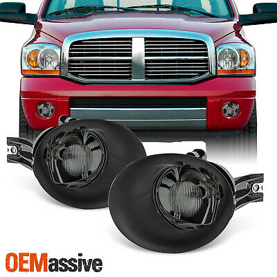 $38.99 • Buy Fit 2002-2008 Ram 1500 2003-2009 2500 3500 Smoke Glass Bumper Fog Lights W/Bulb