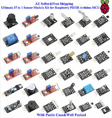 AU31.49 • Buy AU Ultimate 37 In 1 Sensor Module Kit For Raspberry Pi3/2B Arduino MCU Education