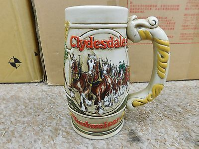 $ CDN39.57 • Buy Budweiser Clydesdale Horses Delivery Wagon Stein  Promotional By Ceramarte MINT