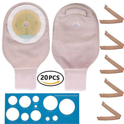 $21.99 • Buy Ostomy Colostomy Ileostomy Stoma Drainable Pouch Bag Cut To Fit One-Piece System