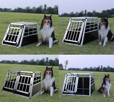 View Details FoxHunter Aluminium Dog Pet Puppy Cage Kennel Travel Transport Crate Carrier BOX • 55.99£